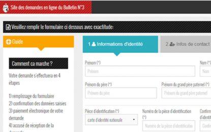 Ministère de l'Intérieur : Retrait du Bulletin N°3 en ligne