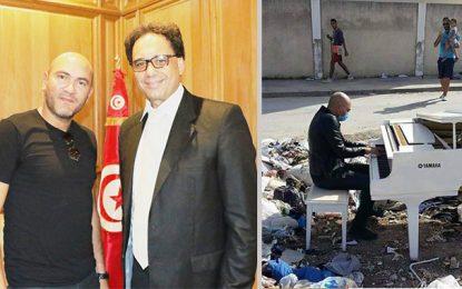 Le pianiste Lotfi Gharbi honoré par le ministre Mohamed Zinelabidine