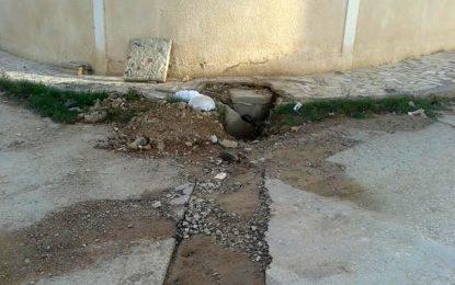 Cité El-Ghazala : Chaussées dégradées, véhicules abîmées