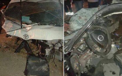 Gafsa : 5 morts et 7 blessés dans un accident