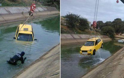 Sidi Hassine : Un chauffeur de taxi disparaît, sa voiture retrouvée dans un canal