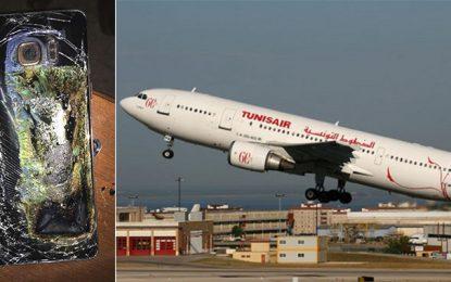Le Galaxy Note 7 de Samsung est banni des avions Tunisair
