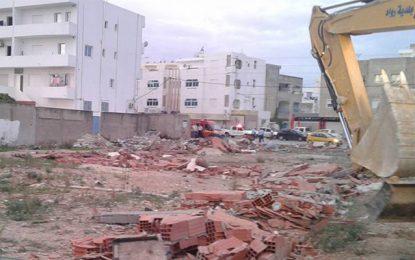 Ariana: Démolition de constructions sur des terres de l'Etat