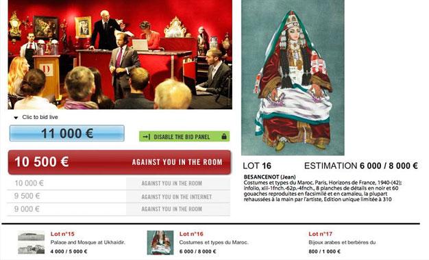Kapitalis vente aux ench res paris d objets d art tunisiens kapitalis - Hotel de ventes drouot ...