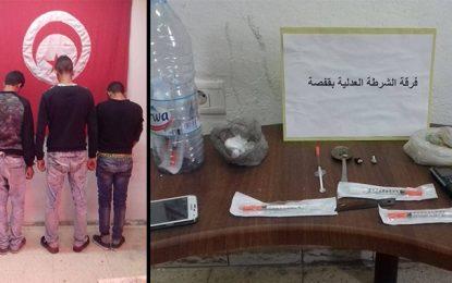 Quatre dealers dont un élève arrêtés à Gafsa