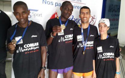 Le Kenyan Mathius Kipfaat remporte le Marathon Comar 2016
