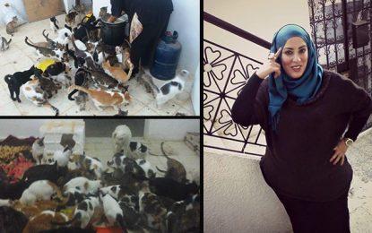 Ariana : Houda sauve 120 chats et 20 chiens de la rue