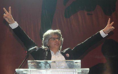 Tunis : Basma Khalfaoui n'a pas manifesté avec les enseignants