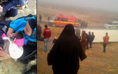 Kasserine : Un bus se renverse et fait 10 blessés