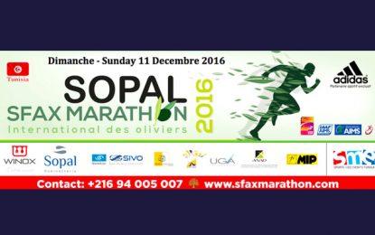 En route pour le 5e Sopal Sfax Marathon des Oliviers