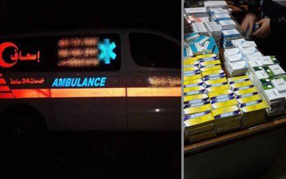 Sfax : Saisie de 100.000 dinars de médicaments dans une ambulance libyenne