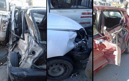 Zaghouan : Six blessés dans un carambolage