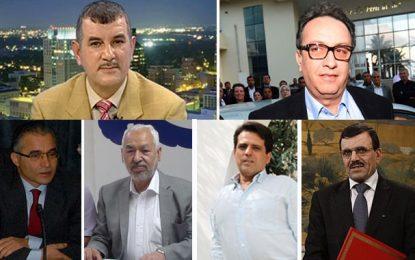 Les dirigeants politiques auxquels les Tunisiens ne font pas confiance