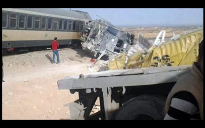 Gabès : Deux morts dans la collision entre un train et un camion