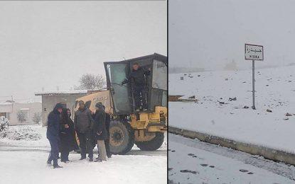 Kasserine : Branle-bas de combat pour faire face à la neige