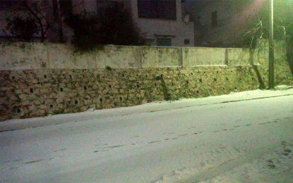 Météo : Il neige sur Aïn Drahem et Kasserine