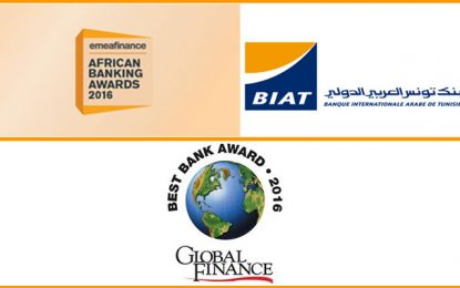 La Biat désignée meilleure banque en Tunisie par Global Finance