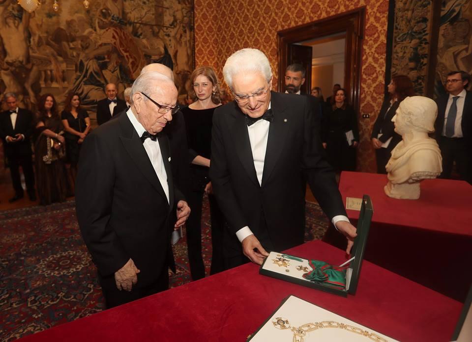 Béji Caïd Essebsi et Sergio mattarella