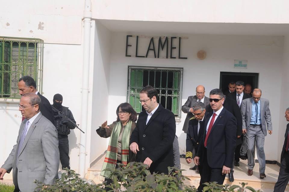 Youssef Chahed au Centre Amal, Ain El-Oust