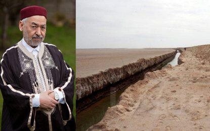 Ghannouchi déplore la construction d'un mur à la frontière avec la Libye