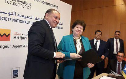 Attijari bank co-finance l'acquisition de 20 locomotives par la SNCFT