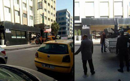 Tunis : Démolition de la terrasse du bar restaurant Le Duplex
