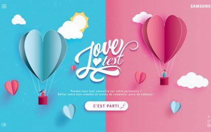 A l'occasion de la St Valentin, Samsung lance le Love Test