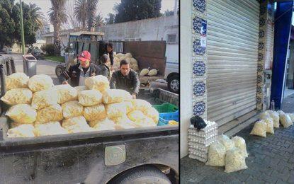 Tunis : Saisie de 2 tonnes et demi de frites