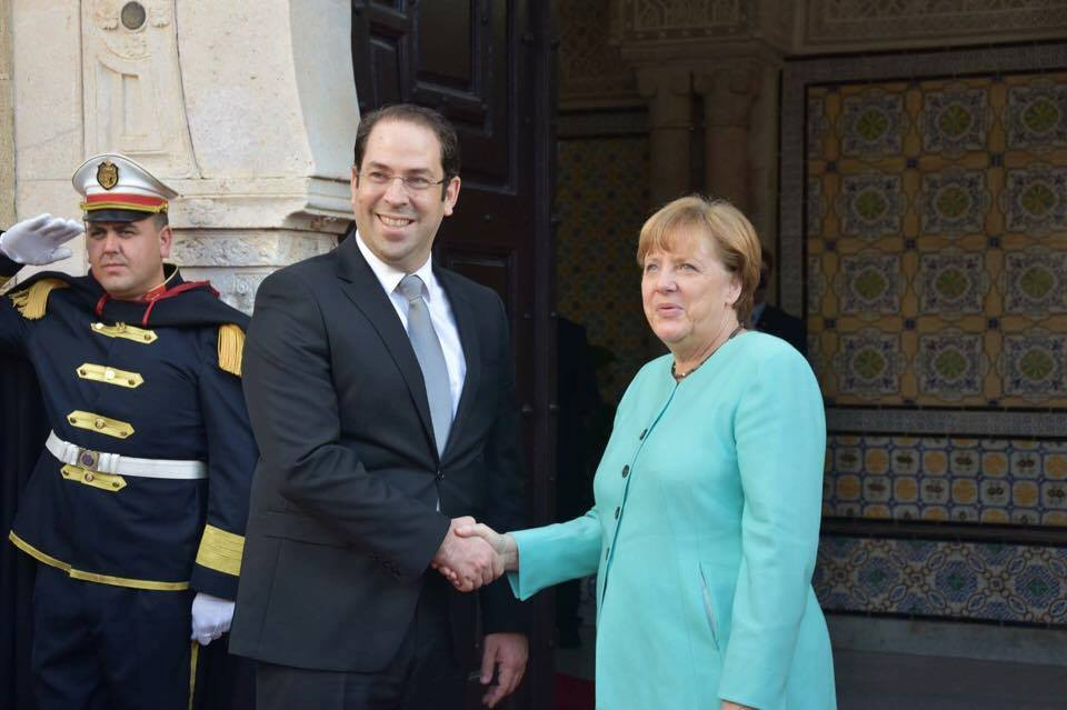 Youssef Chahed Angela Merkel