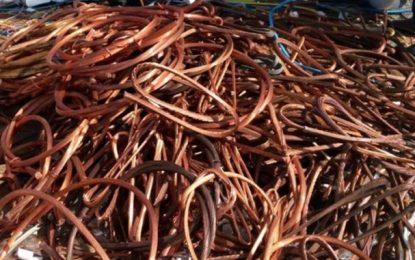 Tunis : Près de 50 tonnes de cuivre saisies à El-Agba