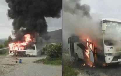 Jendouba : Spectaculaire incendie dans un bus scolaire