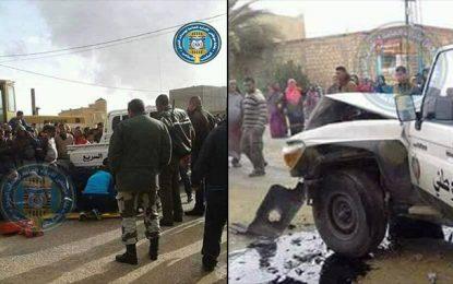 Kebili : Quatre policiers blessés dans une course-poursuite