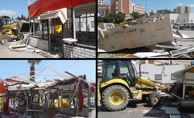 El-Menzah 6 : La cité Jamil débarrassée des commerces non-autorisés Menzah-6-Ariana-demolition-commerces-no-autorisés