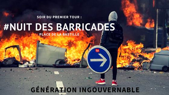 Affiche de la Nuit des Barricades.