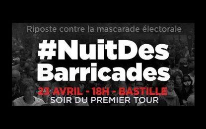 Présidentielle en France : «Nuit des Barricades» à la Bastille