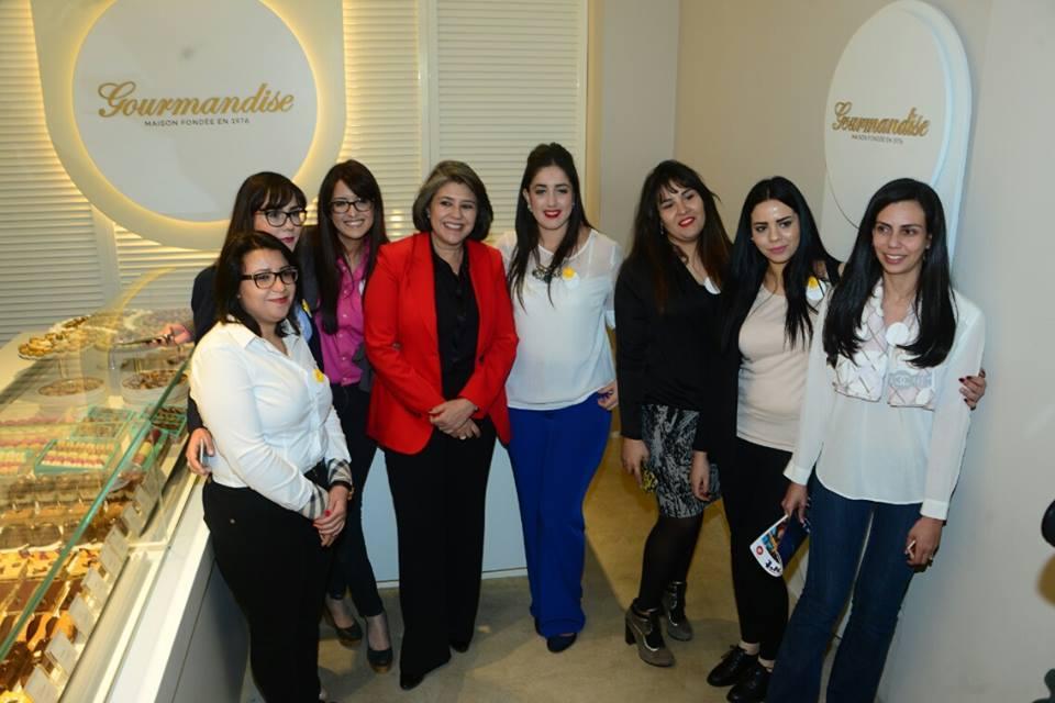 Raoudha Kammoun et l'équipe de Gourmandise La Marsa