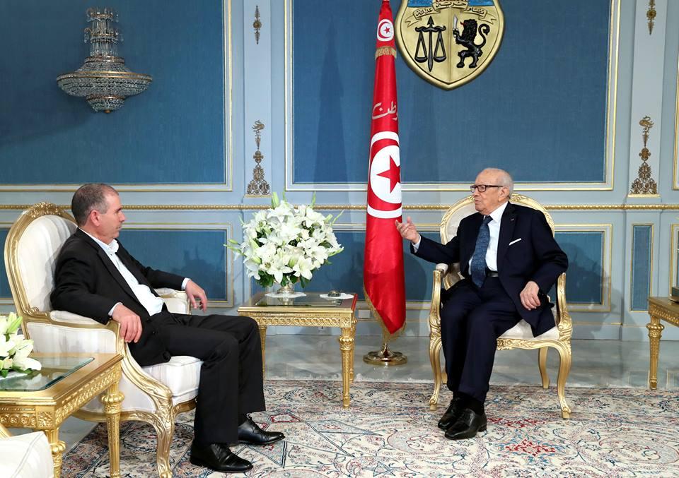 Béji Caïd Essebsi reçoit Noureddine Taboubi le lundi 17 avril 2017.