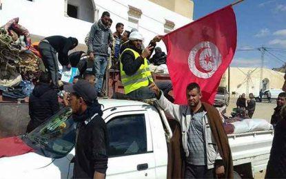El-Kamour : Les manifestants rejettent les propos de Caid Essebsi