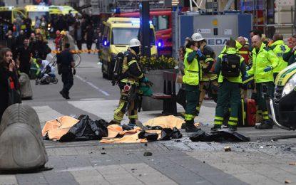 Terrorisme : Un camion fait des morts et des blessés à Stockholm