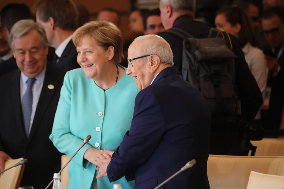 Caïd Essebsi - Merkel