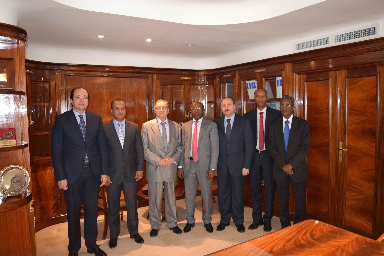 La délégation djiboutienne avec Mohamed Loukil