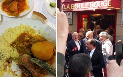 François Hollande clôture son mandat avec un couscous tunisien