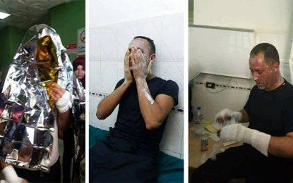 Six pompiers brûlés dans un incendie à Gafsa