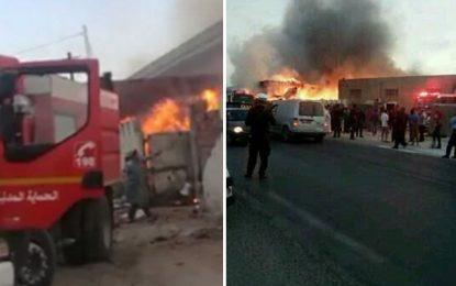 Kairouan : Plus de 6 heures et 80 pompiers pour maîtriser un incendie