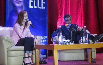 Isabelle Huppert présente ''Elle'' à Tunis