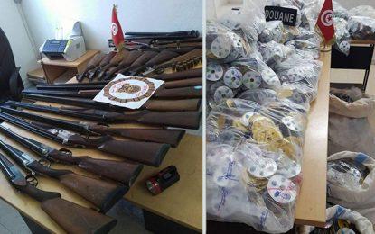 Contrebande : Saisie d'armes et de feux d'artifice à Tataouine