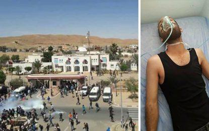 Tataouine : Des manifestants asphyxiés, l'hôpital régional débordé