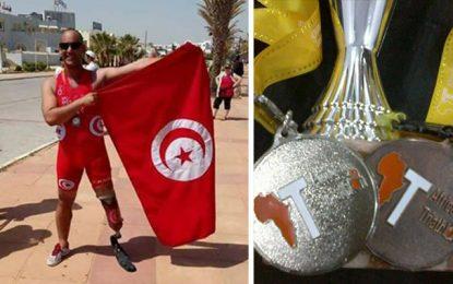 Handisport : L'officier Bel Hadj Yahya décroche 2 médailles en triathlon