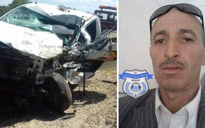 Kairouan : L'agent Yacoubi décède dans un accident