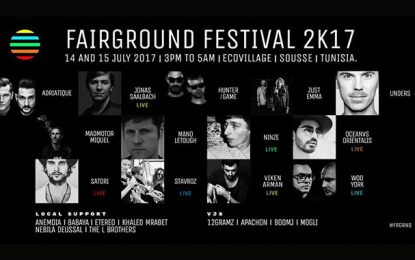 Sousse : La musique électro en vedette au Fairground Festival 2017